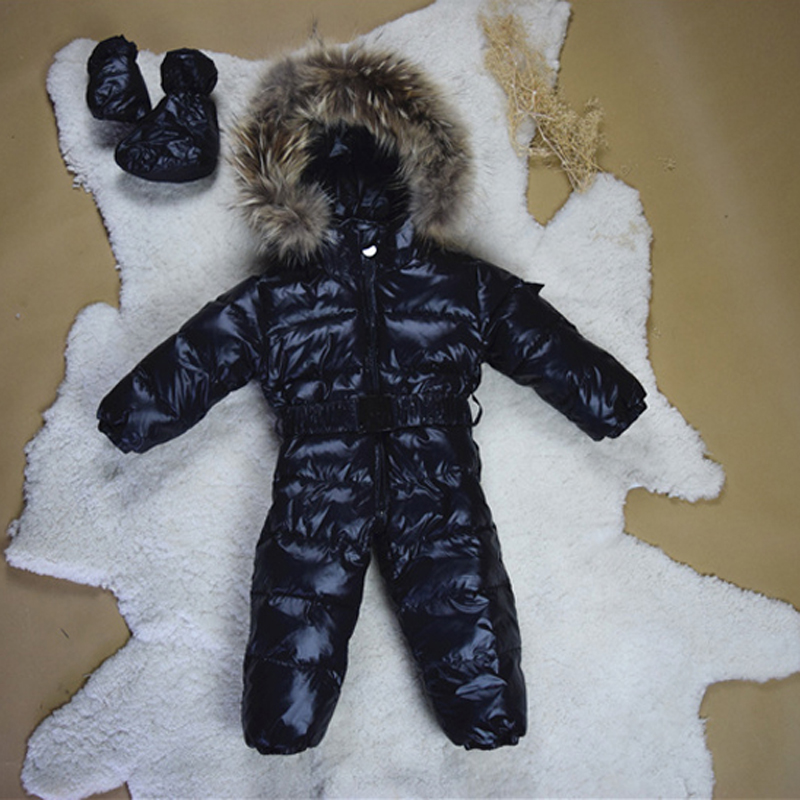 Baby Snowsuits Jumpsuit Russia Winter Clothing Warm Coats Snow Wear Down Jacket For Boys Girls Kids Clothes Infantil Rompers стоимость