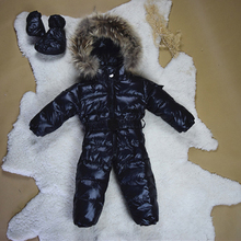 Baby Snowsuits Jumpsuit  Russia Winter Clothing Warm Coats Snow Wear Down Jacket For Boys Girls Kids Clothes Infantil Rompers