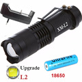 MINI Led flashlights torch aluminum lanterna led CREE XM-L2 3800 lumens zoomable waterproof 5 mode LED flashlights for outdoor