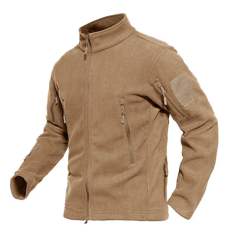 f139d85d0 ... MAGCOMSEN Mens Fleece Jacket Winter Thermal Tactical Jacket and Coat  Multi-pocket Windproof Military Army