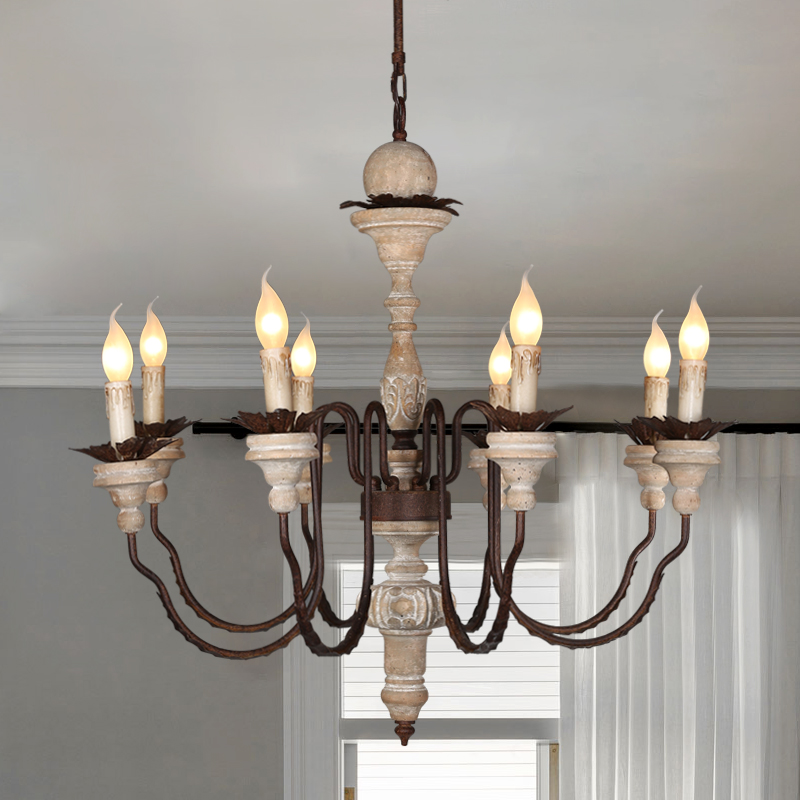 Nordic Design Wood Chandelier Lighting Lustre Led Suspension Luminaire Industrielle Art Deco Chandeliers Vintage Home Decor