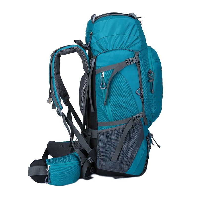 60L escalada impermeable senderismo mochila al aire libre de las mujeres y los hombres bolso Camping montañismo mochila bicicleta deporte bolsas de viaje - 2