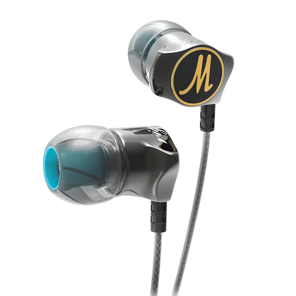 RUKZ D06 XBS BASS Stéréo In-Ear Écouteurs avec Microphone pour Mobile Téléphone Antibruit Intra-auriculaires DJ Écouteur Mic Écouteurs