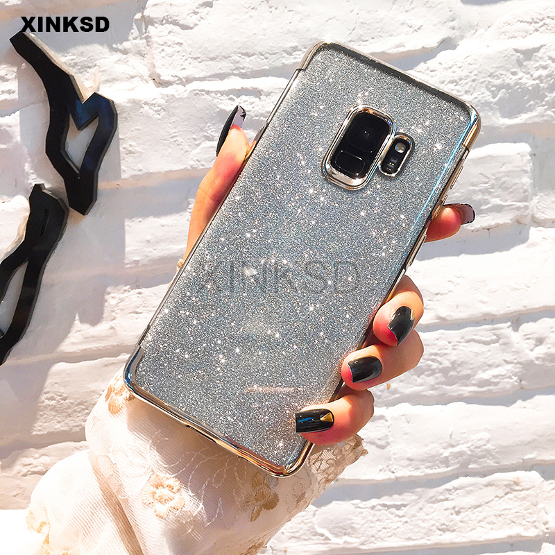 Glitter Bling Silicone Phone Case for Samsung Galaxy A8 A6