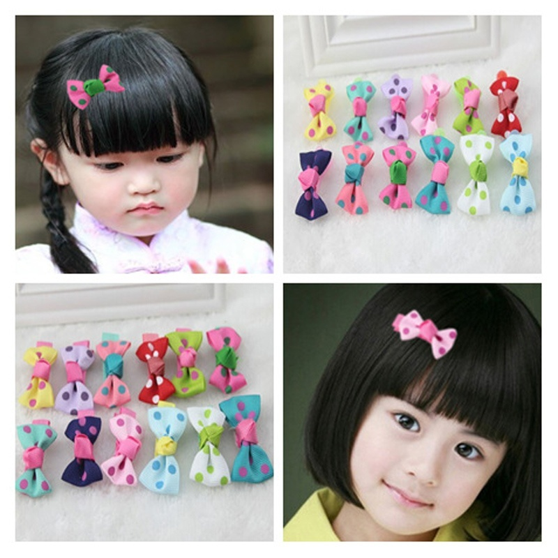 Lots Charm Cute Hair Clips Snaps Hairpin Girls Baby Kids Hair Bow Accessories
