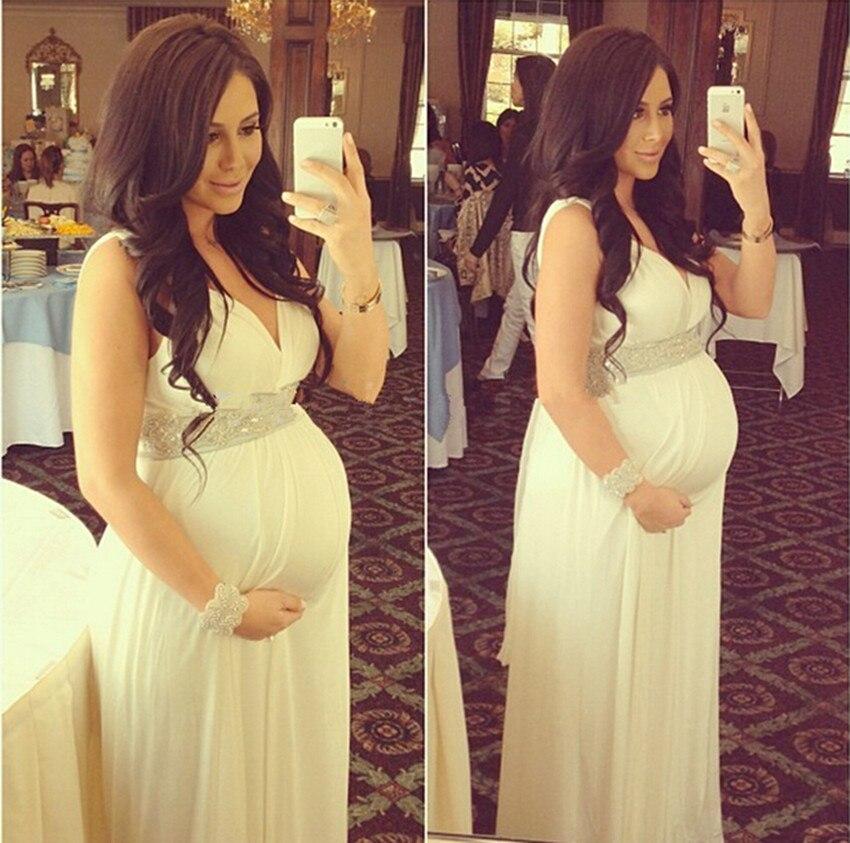 plus size puffy long chiffon evening dresses for pregnant women ligh yellow vestido de festa a