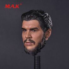 High Quality 1:6 Scale Mens Head Sculpt Che Guevara Carving Model fit 12 Action Figure for Collection as Bodies Dolls