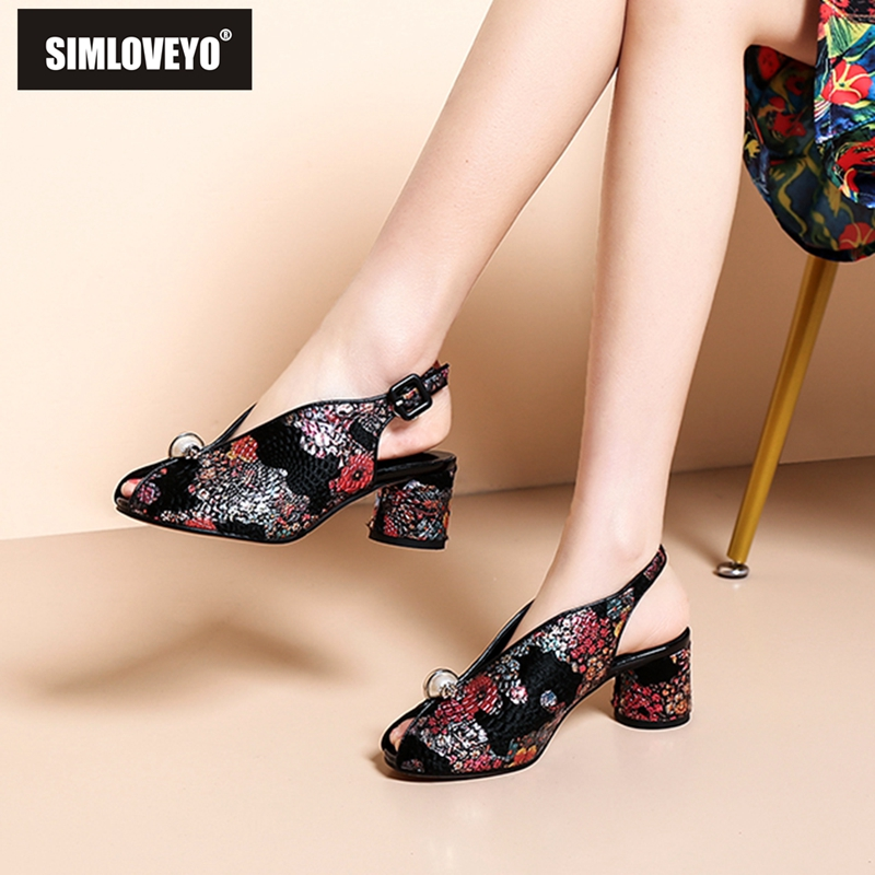 SIMLOVEYO Women Shoes High-Heels Summer Ladies Casual Red Horsehair Sandals Ethnic-Style