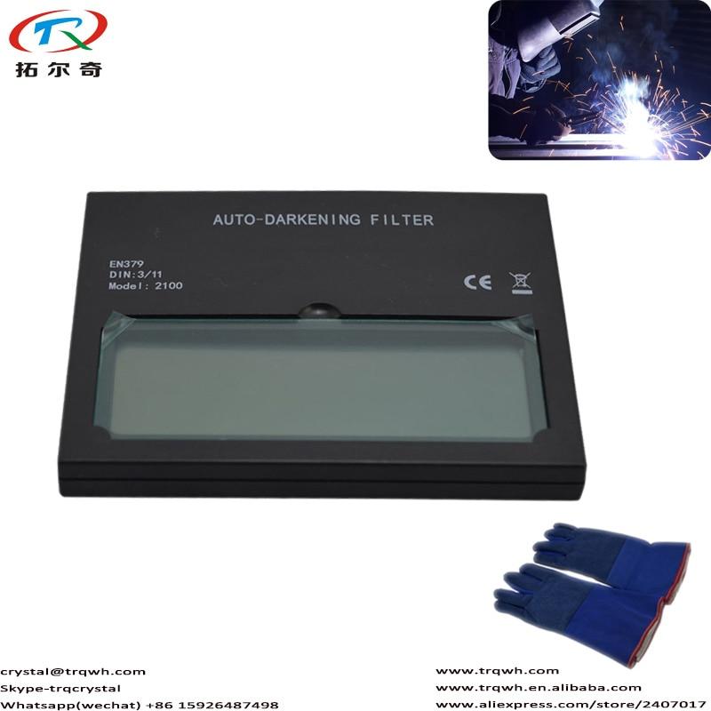Tig Welding Chameleon Filter Len Crystal Glass Auto-darkening Welding Glove Material Resistant High Quality Warranty TRQ-2100