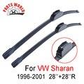 28 ''+ 28''r frente wiper blade para vw sharan 1996-2001, brisas limpador para volkswagen acessórios do carro limpa parabrisas
