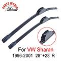 28 ''+ 28''r limpiaparabrisas delantero para vw sharan 1996-2001, accesorios del coche limpiaparabrisas para volkswagen limpia parabrisas