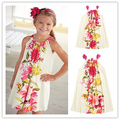 Retail Abby Fish 2016 Brand New Girl's Floral Drawstring Dress, Flower Kids Dress, 2-6Y Children Clothes kids tops clrearance