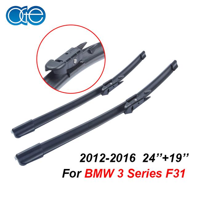 Limpadores de para bmw série 3 f30 f31 oge 2012 em diante 24 ''+ 19'' de borracha bracketless windscreen lâmina carro acessórios cpb101
