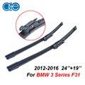Oge limpiaparabrisas para bmw serie 3 f30 f31 2012 en adelante 24 ''+ 19'' rubber bracketless parabrisas del coche hoja accesorios cpb101