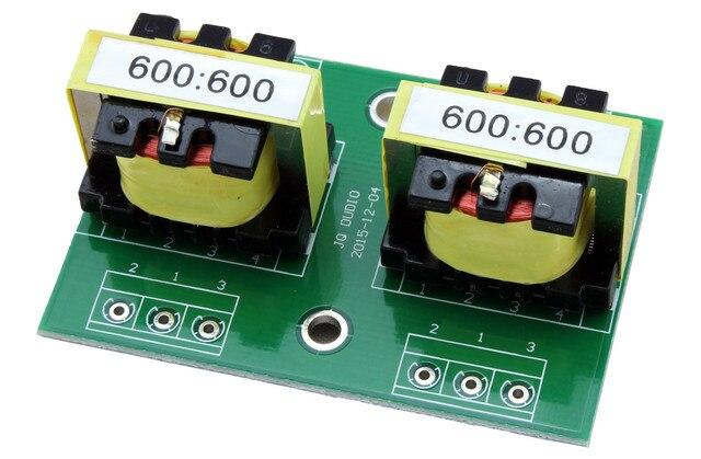 Transformador de aislamiento de Audio Permalloy 600:600, aislador de Audio de conversión equilibrado y desequilibrado