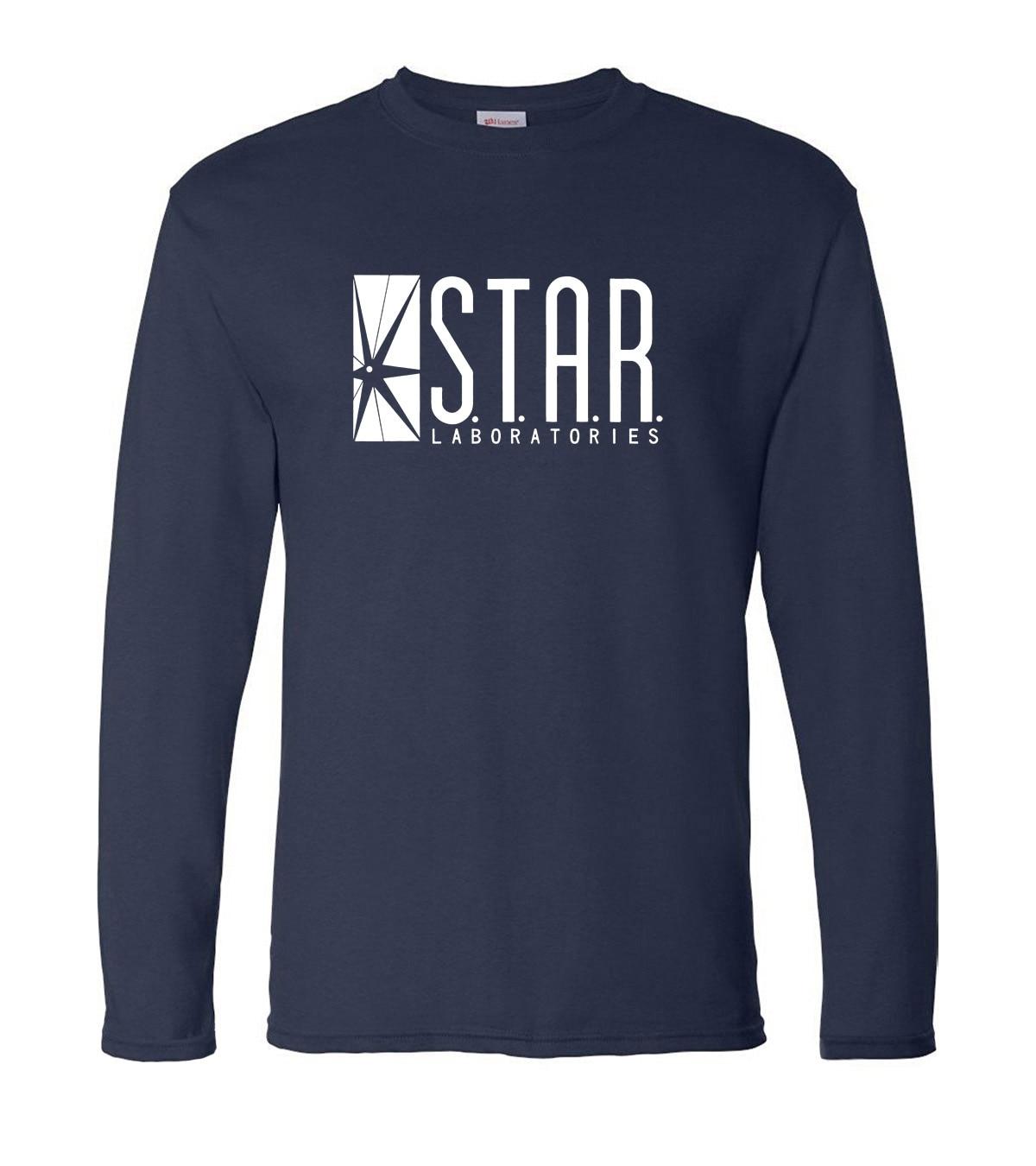 STAR S.T.A.R.labs Men's Long Sleeve T-shirts 2019 New Spring Cotton High Quality Hip Hop Man T Shirt Fashion Brand Men Top Tees
