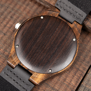 Image 5 - BOBO BIRD Fashion Classic Men Wood Watch Ebony Handmade Quartz Wristwatch Timepiece Best Gift erkek kol saati In Box L F08