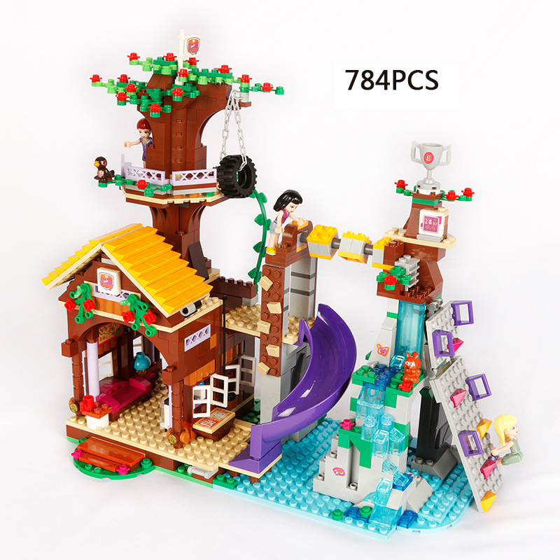 Hot my good friends girls club Adventure Camp tree house building block emma stephanie joy figures bricks 41122 toys for kids