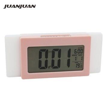 現代のデジタルled目覚まし時計インテリジェントライトセンス多機能寝室オフィスインテリジェントライトセンス目覚まし時計40%オフデジタル時計