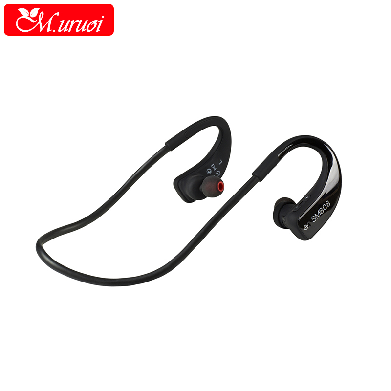 M.uruoi Outdoor Wireless Headphones Bluetooth Earphones Bluetooth Stereo Earbuds Cordless Headset with Mic For Xiaomi Sport 100% original bluetooth headset wireless headphones with mic for blackview bv6000 earbuds