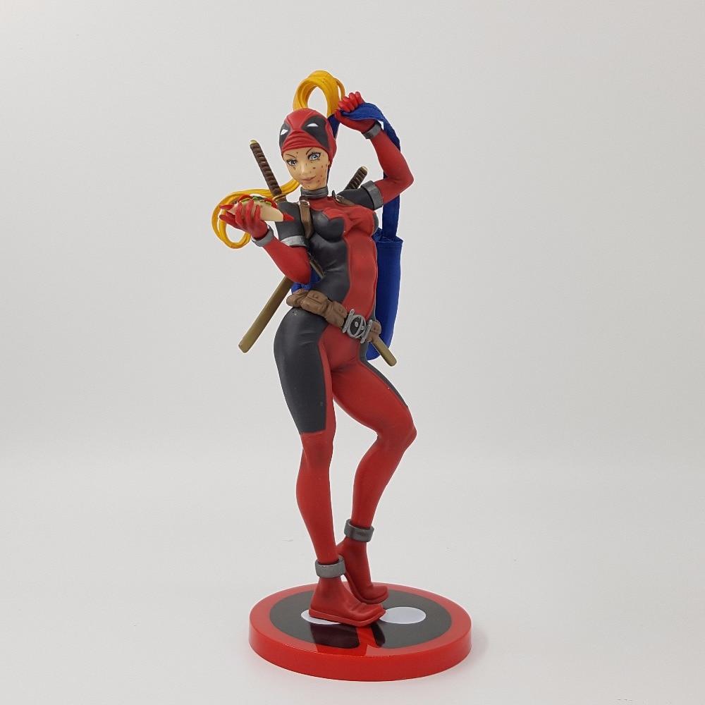 Lady Deadpool Figure Deadpool Girl ARTFX+ X MEN X-MEN Weapon X Iron Man Wolverine PVC Action Figure Model Collection Anime Toy