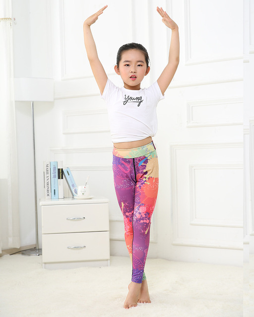 Girl's Rainbow Yoga Leggings