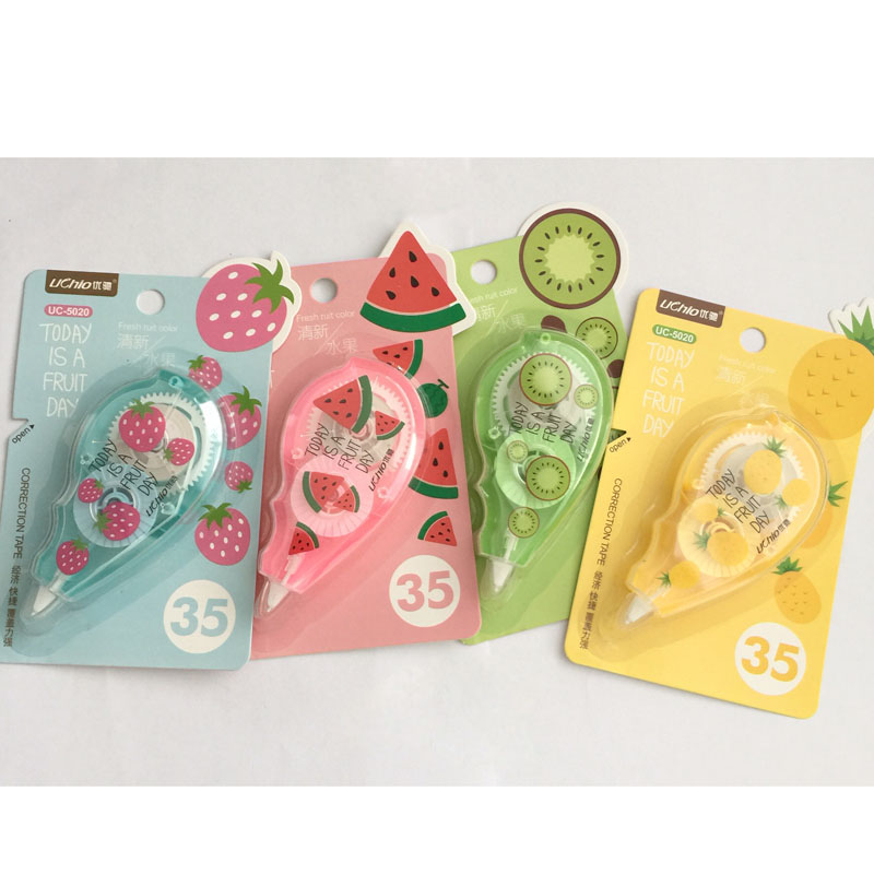 Fruit Watermelon Strawberry Pineapple Kiwi Correction Tape School Office Supply Student Stationery Corrector Eraser