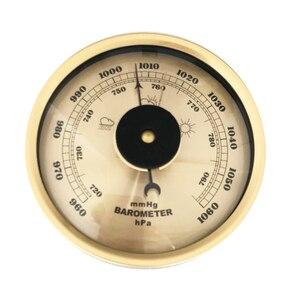 Image 5 - 7.2 بوصة 180 مللي متر خشبية قاعدة الحائط المنزلية بارومتر ميزان الحرارة رطوبة الطقس محطة شنقا