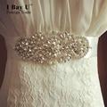 I Bay U Diamond Pearl Rhinestone Bridal Belt For Wedding Dress Accessories Belt Bridal Belts With Crystals Beaded Sash Belt