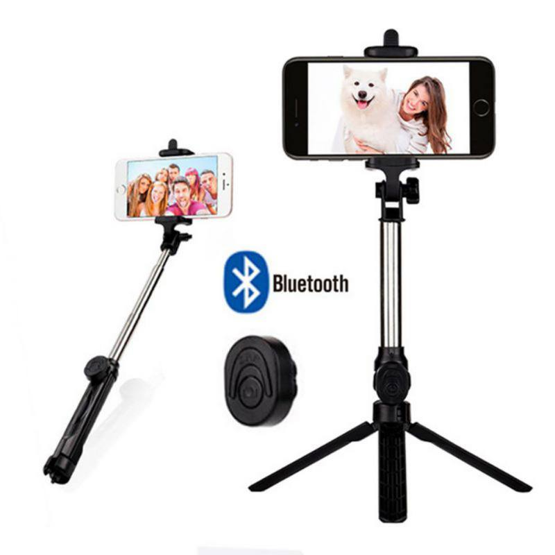 Universal Retractable 3 in 1 Bluetooth Selfie Stick Tripod Extendable Monopod For iPhone XR X 7 6s Plus For Samsung For Huawei