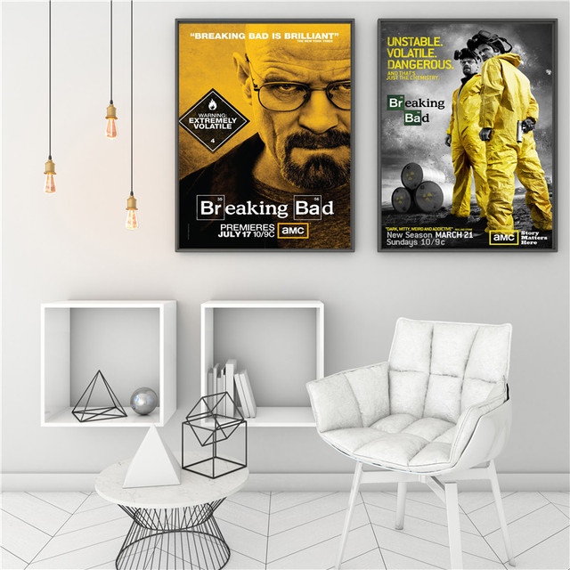 Wall Painting Breaking Bad Home Decor Art Canvas Pictures For Living Room American TV Teens Gift House