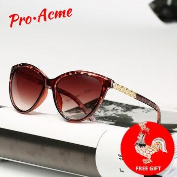 Pro Acme marque Design lunettes de soleil yeux de chat femmes polarisées 2019 dame rétro élégant Cateye lunettes de soleil strass Temple PB1243