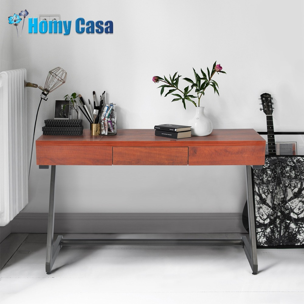 Homy Casa Redwood Color Computer Table Laptop Stand Coffee Office Desk For Living Room In Desks From Furniture On Aliexpress