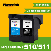 Plavetink Remanufactured Ink Cartridge Replacement For Canon PG 510 PG510 PG 510 XL iP2700 Pixma MP250 MP270 MP280 480 MX320 330