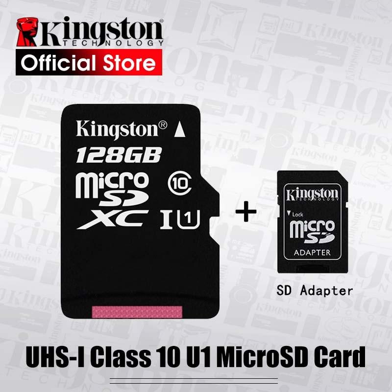 بطاقة ذاكرة كينغستون عالية الجودة فئة 10 128GB 64GB 32GB 16GB 8GB MicroSDXC بطاقة sd مايكرو كارتاو دي ميمويا للهاتف/الكمبيوتر اللوحي/الكمبيوتر