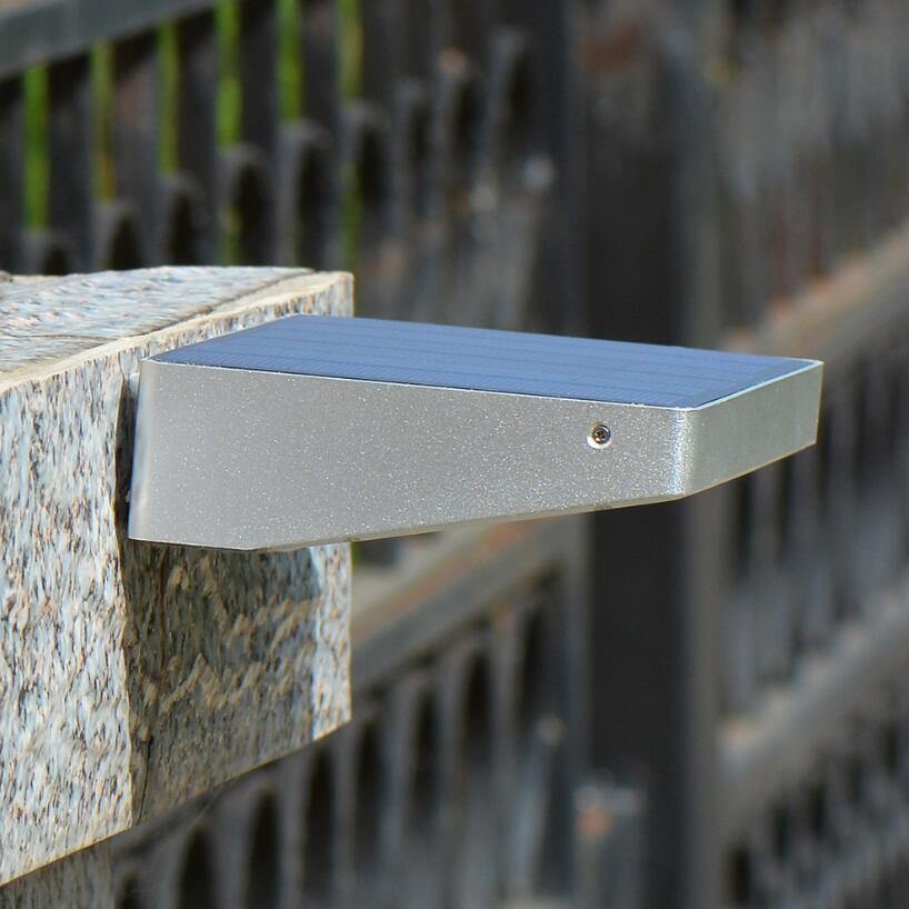 Bright Solar Powered Door Fence Wall Lights Outdoor Garden LED Sensor Lightning
