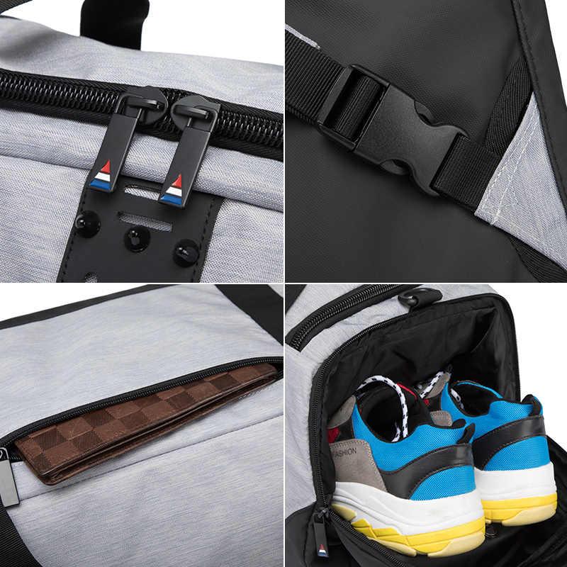 OZUKO Nieuwe Grote Capaciteit Reizen Laptop Tas Multifunctionele Waterdichte Schoudertas mannen Rugzak Mannen Hand Bagage Reizen Duffle