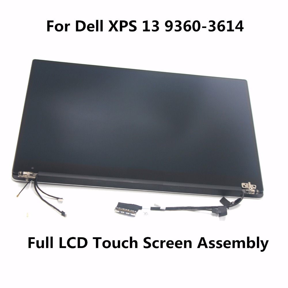 3200*1800 13.3 QHD LCD Display Full Touch Screen Digitizer Assembly HP2YT with Touch For Dell XPS 13 9360-3614 Ultrabook Silver high quality silver for htc one m7 lcd display touch digitizer screen frame back door battery cover case housing
