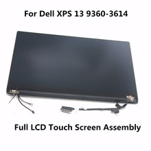"3200*1800 13.3"" QHD LCD Display Full Touch Screen Digitizer Assembly HP2YT with Touch For Dell XPS 13 9360-3614 Ultrabook Silver(China)"