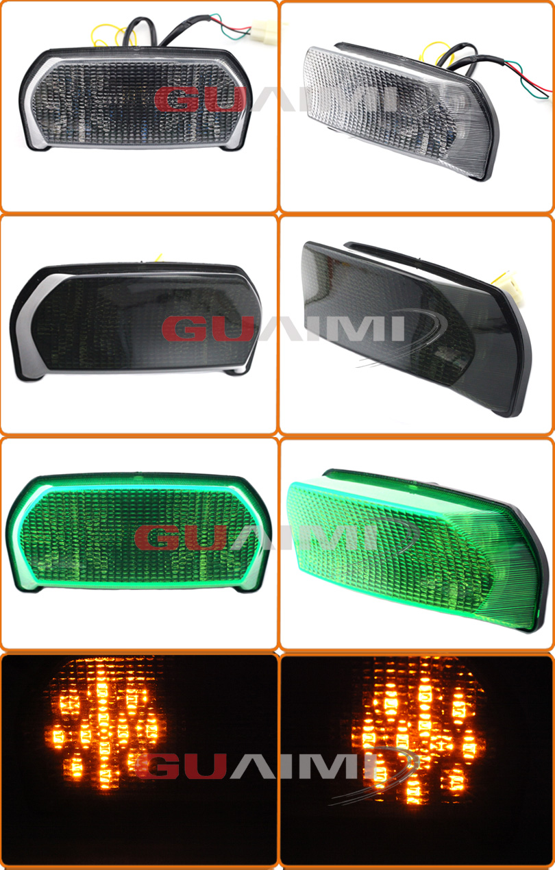 Motorcycle LED Bulb Tail Light Assembly Moto Brake Turn Signal Flasher Accessories For Kawasaki ZX7R ZX-7R 1996 1997 1998 - 2003