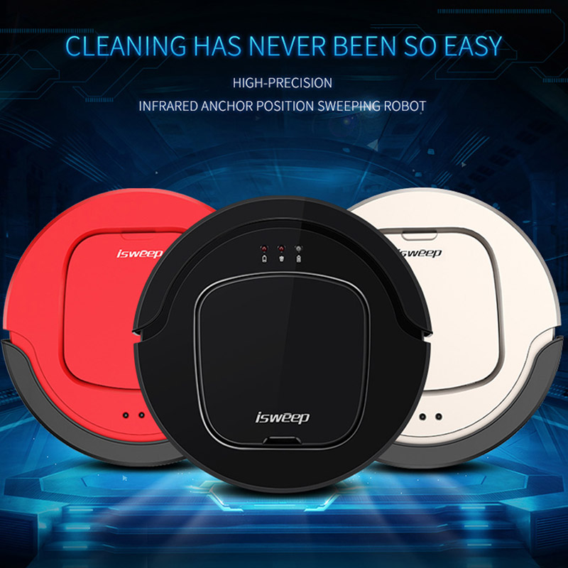 S550 Robot Vacuum Cleaner for Home Wireless Vacuum Cleaner Robot Mini Remote Control Sweeping Machine with Auto Charge ISWEEP vbot sweeping robot cleaner home fully automatic vacuum cleaner special offer clean robot mopping machine