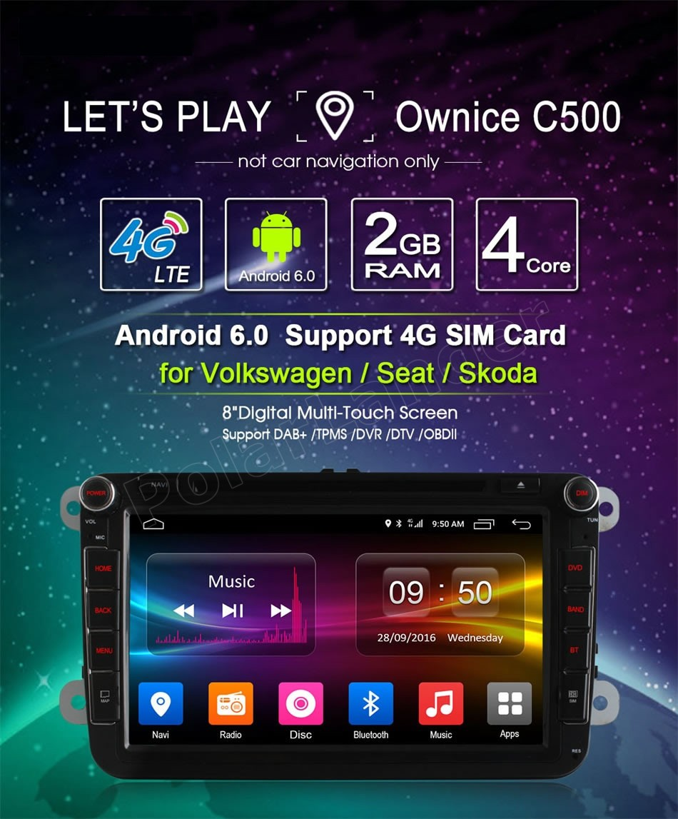 Quad Core Android 6.0 Car DVD Player GPS Radio for V/W G/olf m/k6 5 P/olo J/etta T/iguan P/assat B6 5 cc s/koda o/ctavia