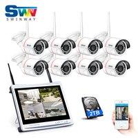8CH Plug And Play WIFI Video Surveillance Kit 8 LCD Screen Onvif 720P HD 3Array IR