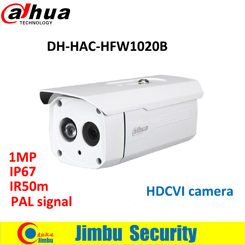 Dahua camera HDCVI HAC-HFW1020B 1MP 720P Water-proof IP67 IR50M Bullet Camera DH-HAC-HFW1020B Free Shipping deli a4 folder 8 grids portable multi layer paper bag information package expanding wallet document bag school office supplies