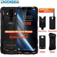 IP68 DOOGEE S90 модульная прочный мобильный телефон 6,18 дюйма Дисплей 5050 mAh Helio P60 Восьмиядерный 6 GB 128 GB Android 8,1 Andriod 8,1 16,0