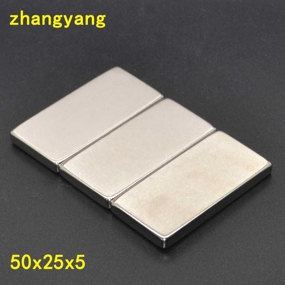 1 個 50*25*5 立方体ブロック 50 × 25 × 5 ミリメートル超強力 N52 高品質希土類磁石 50 × 25 × 5 ネオジム磁石 50 ミリメートル * 25 ミリメートル * 5 ミリメートル