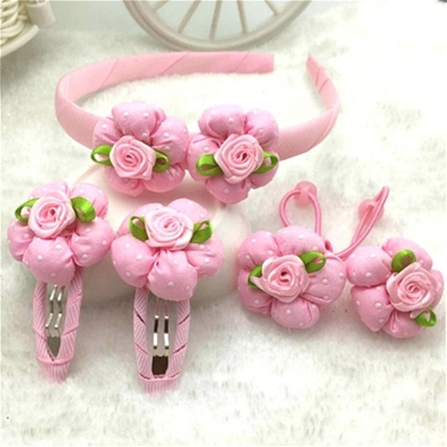 Akwzmly flower hair clip pink rose dots hair bands sweet headband akwzmly flower hair clip pink rose dots hair bands sweet headband hair accessories for girls boutique mightylinksfo
