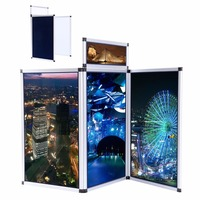 Ship From EU 3 Panel Exhibition Folding Display Boards Top Stand Header Aluminum Alloy Frame