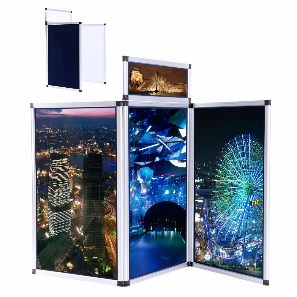 (Ship from EU) 3 Panel Exhibition Folding Display Boards Top Stand Header Aluminum Alloy Frame ship from eu 2017 fast flue type 100