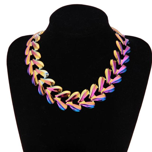 a50ae3f085 Chains Necklace For Women Jewelry Wholesale Rose Gold Color Thick Stainless  Steel Long Big Chunky Necklace Gift